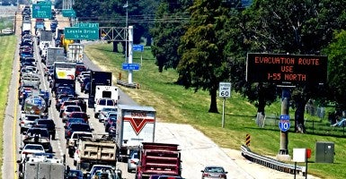 Traffic jam prior to Hurricane Katrina (Photo: PacificCoastNews/Newscom)
