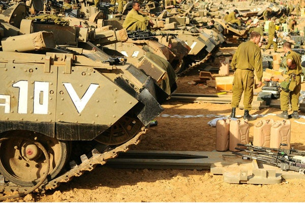 IDF Israel forces staging near Gaza Strip