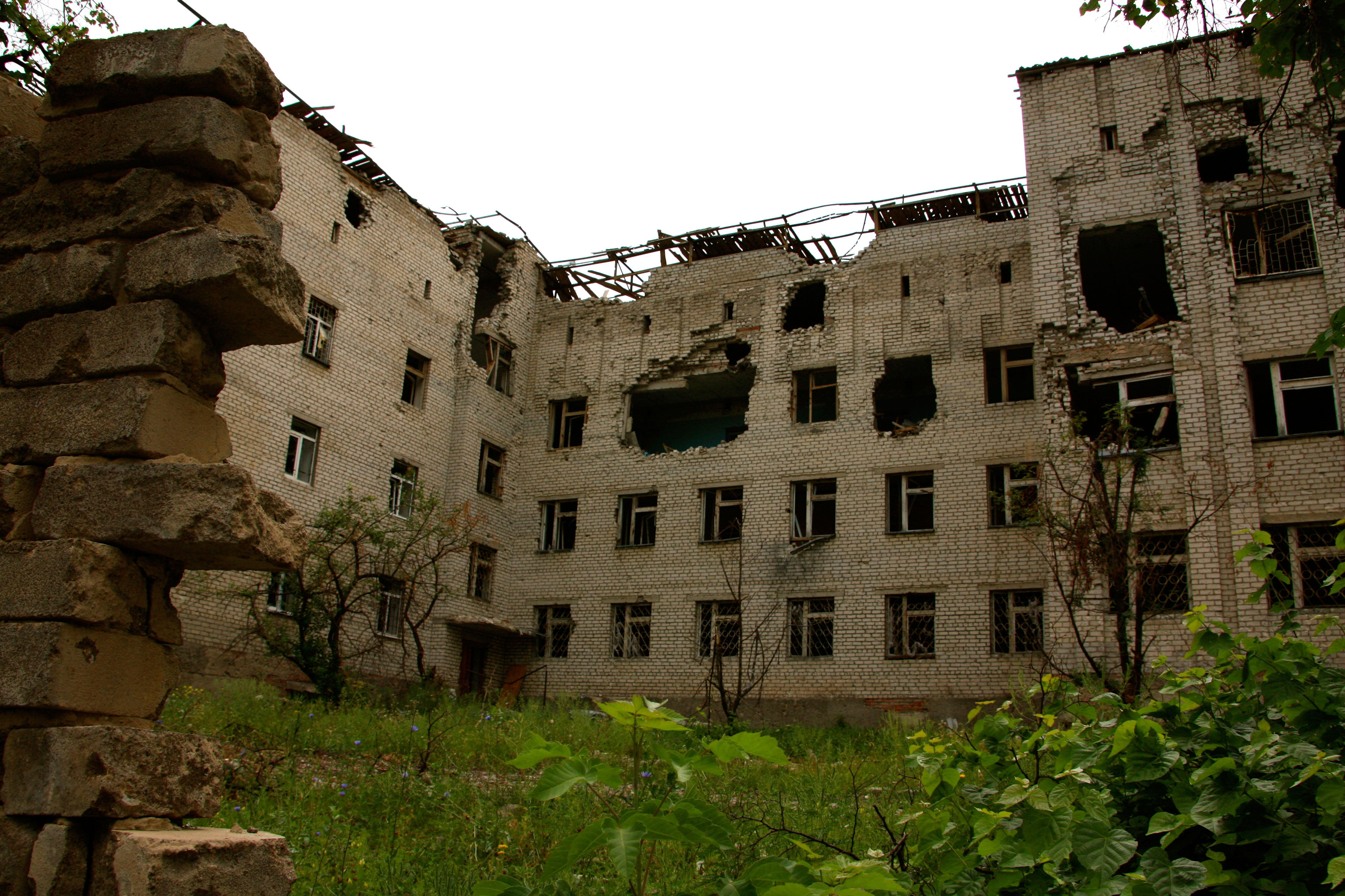 After more than two years of war, many villages in eastern Ukraine have been scarred by battle.