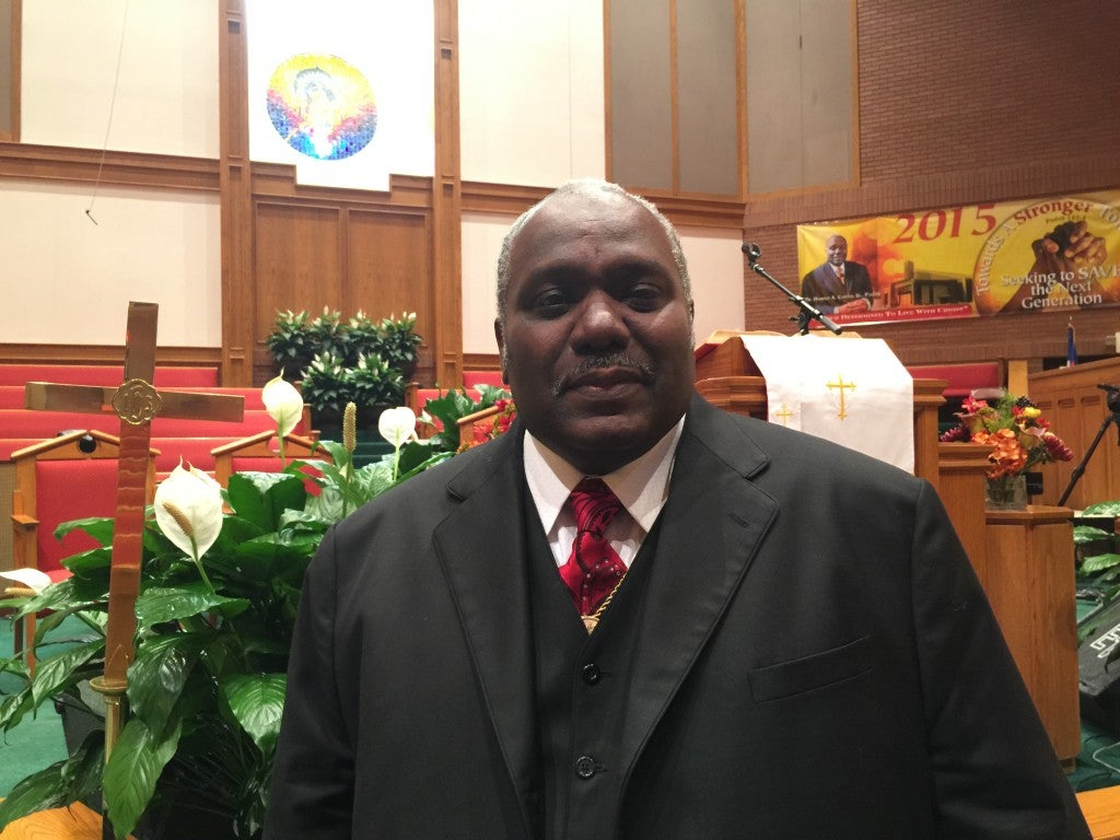Harold Carter Jr., the pastor of New Shiloh Baptist Church in West Baltimore, called for unity, peace and revival in the wake of the death of Freddie Gray. (Photo: Josh Siegel/The Daily Signal)