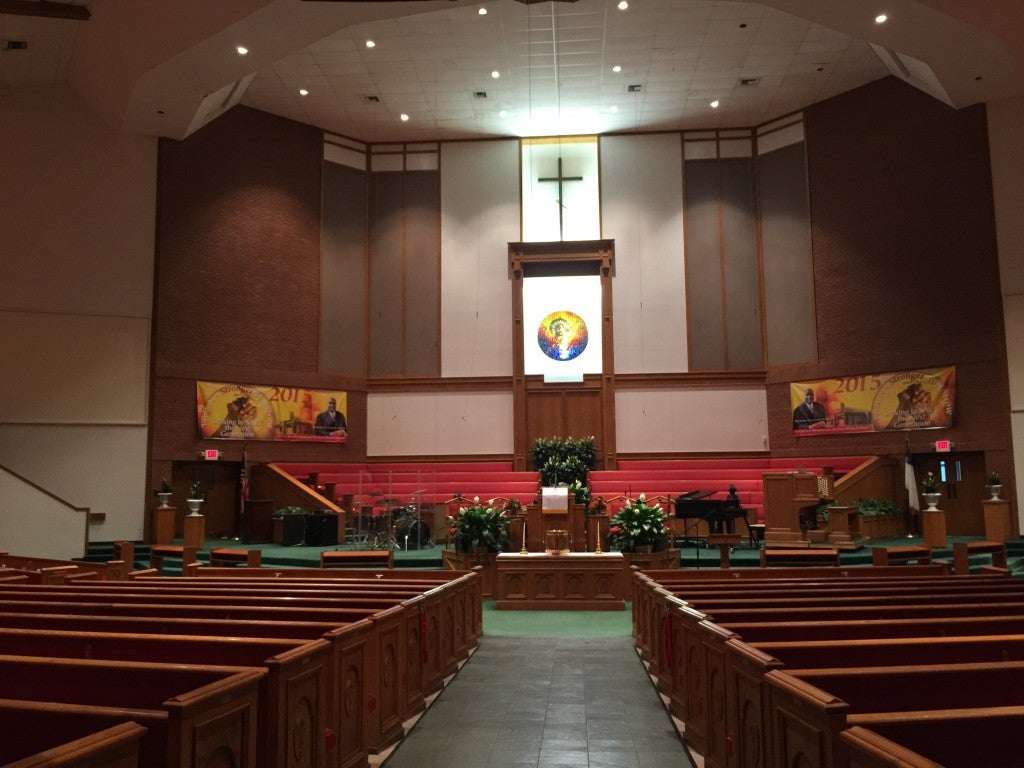 New Shiloh Baptist Church in West Baltimore hosted Freddie Gray's funeral April 27. (Photo: Josh Siegel/The Daily Signal)