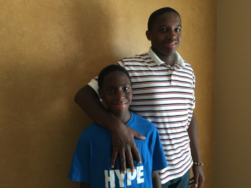Geno White, 16, is entering the 10th grade this fall. His brother, Kole, is 10 and entering the 5th grade. (Photo: Kelsey Harkness)