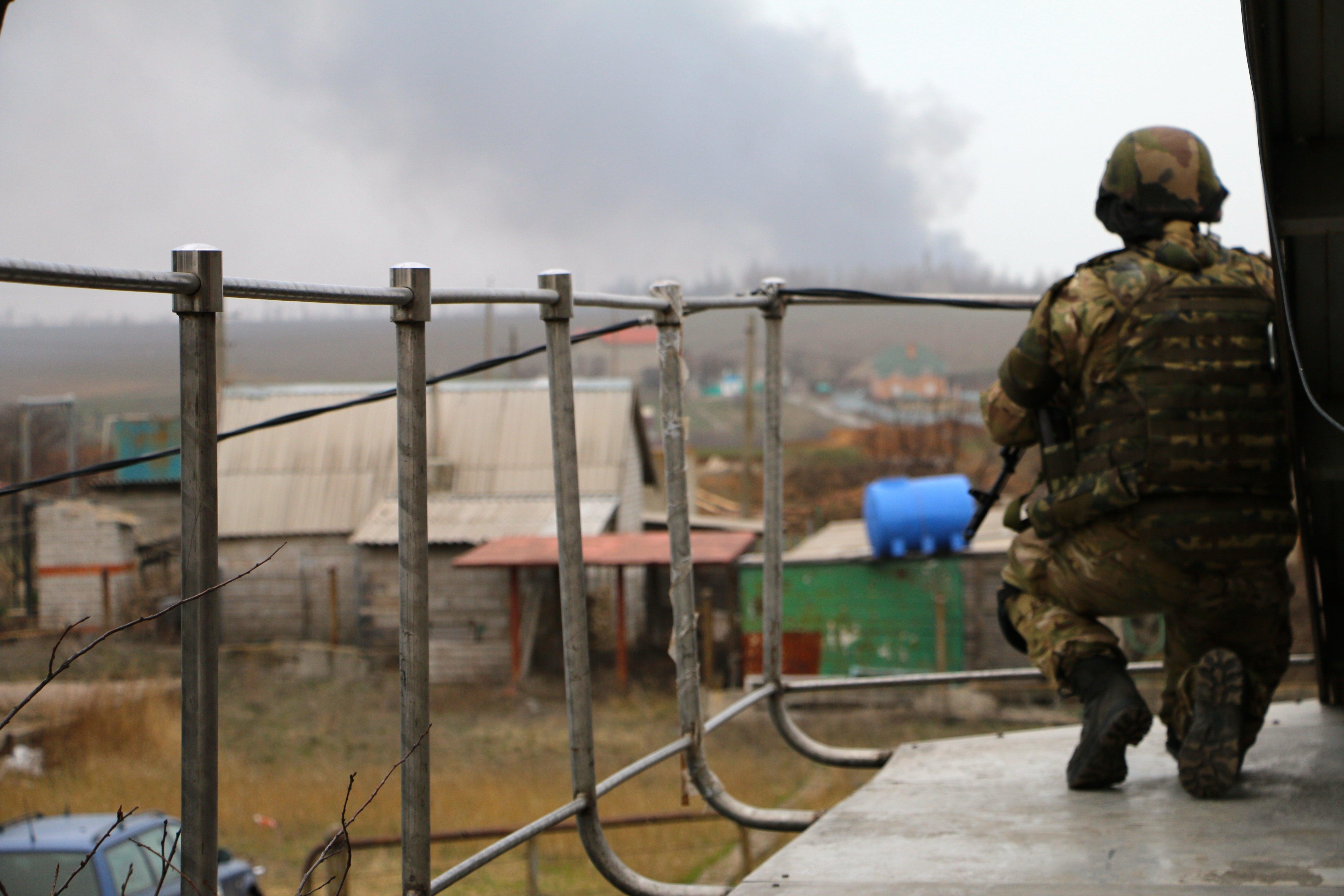 Ucrania, soldado centinela