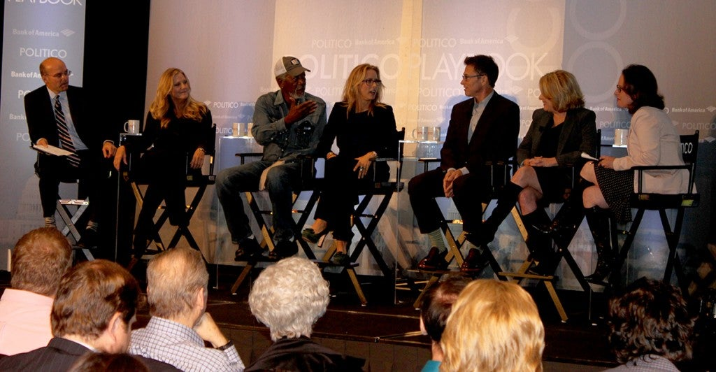 Playbook lunch with cast and producers of CBS's new show, 'Madam Secretary' in Washington, D.C. (Photo: Melissa Quinn/Daily Signal)