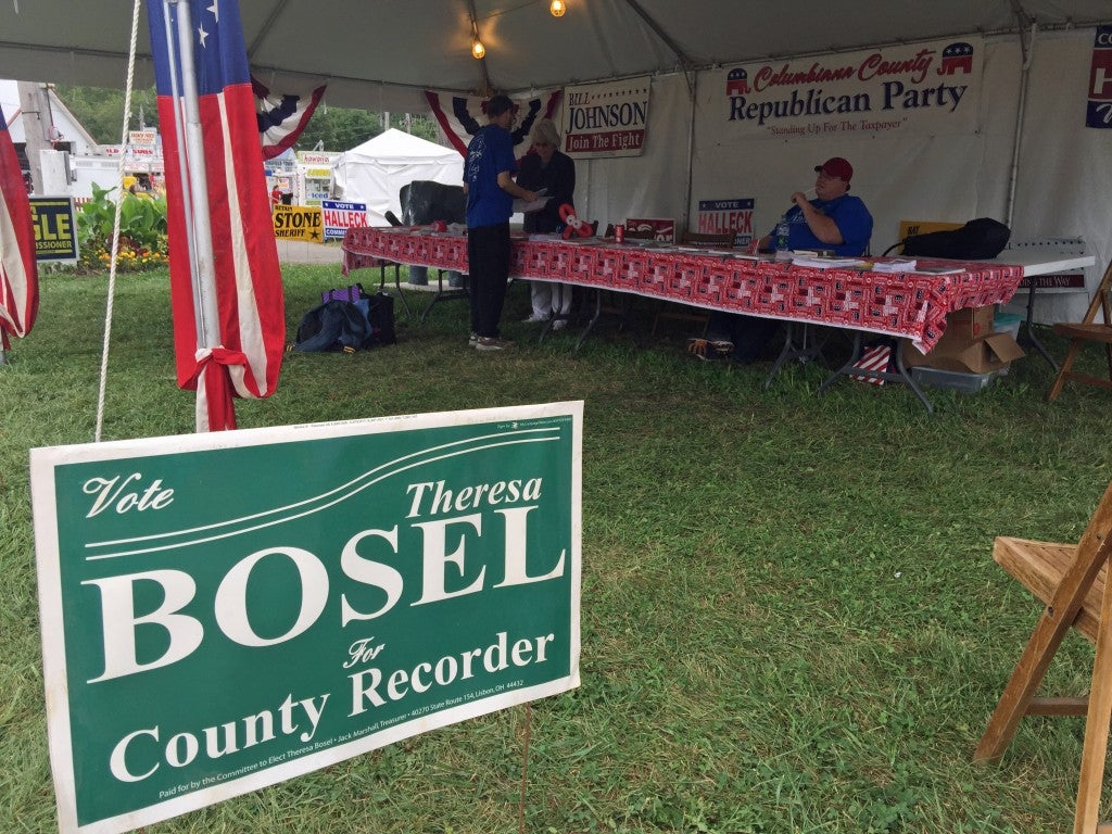 The local Republican Party booth at the fairgrounds. (Photo: Rob Bluey/The Daily Signal)
