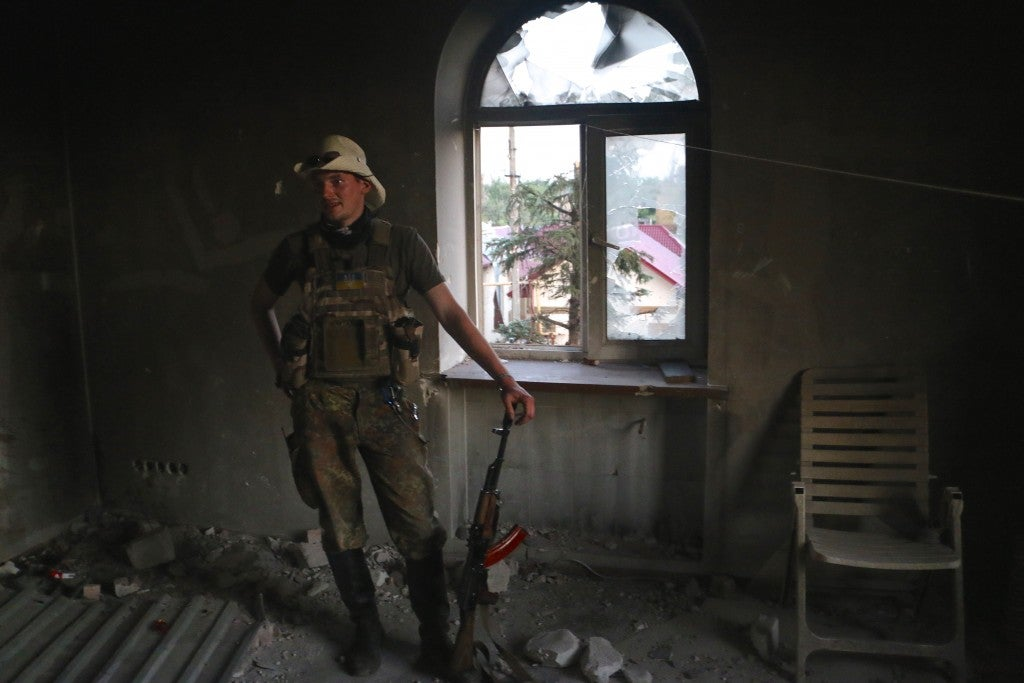 "Bogdan—nom de guerre ""Dan""— a 25-year-old from Lviv. (Photo: Nolan Peterson/The Daily Signal)"