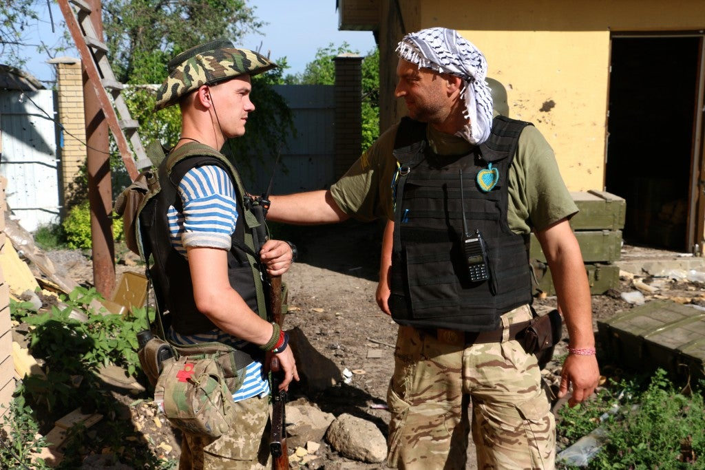 Many Ukrainian soldiers on the front line are as young as 18 or 19 years old. (Photo: Nolan Peterson/The Daily Signal)