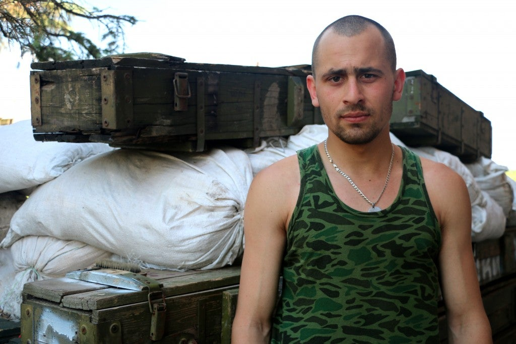 Volodymyr, 22, from Lviv, Ukraine (Photo: Nolan Peterson/The Daily Signal)