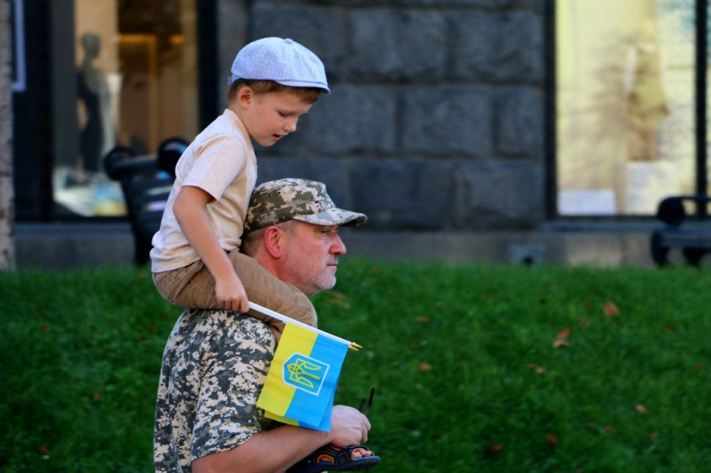 Many Ukrainian civilians volunteered for military service after the conflict began in spring 2014. (Photo: Nolan Peterson/The Daily Signal)