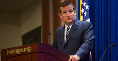 """We built the internet and America maintains it as free for all,""  Sen Ted Cruz, R-Texas, said at The Heritage Foundation. ""We don't use it in an imperialist manner to impose our views on others."" (Photo: Willis Bretz for The Heritage Foundation)"