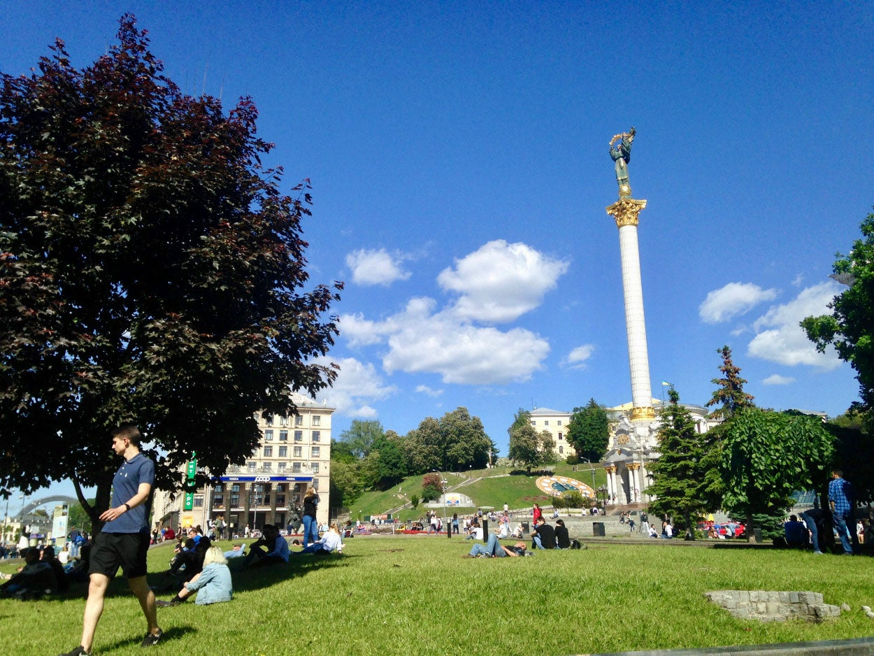 Today, there are few reminders of the revolution on the Maidan, Kyiv's central square.