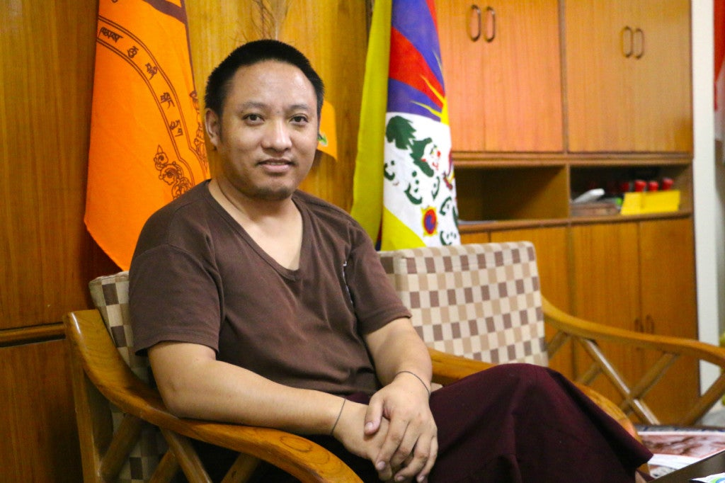 """""""We don't want to live under Chinese rule. We want our country back."""" —Tenpa Dhargyal, 37, general secretary of the Welfare Society of Central Dokham Chushi-Gangdruk. (Photo: Nolan Peterson/The Daily Signal)"""
