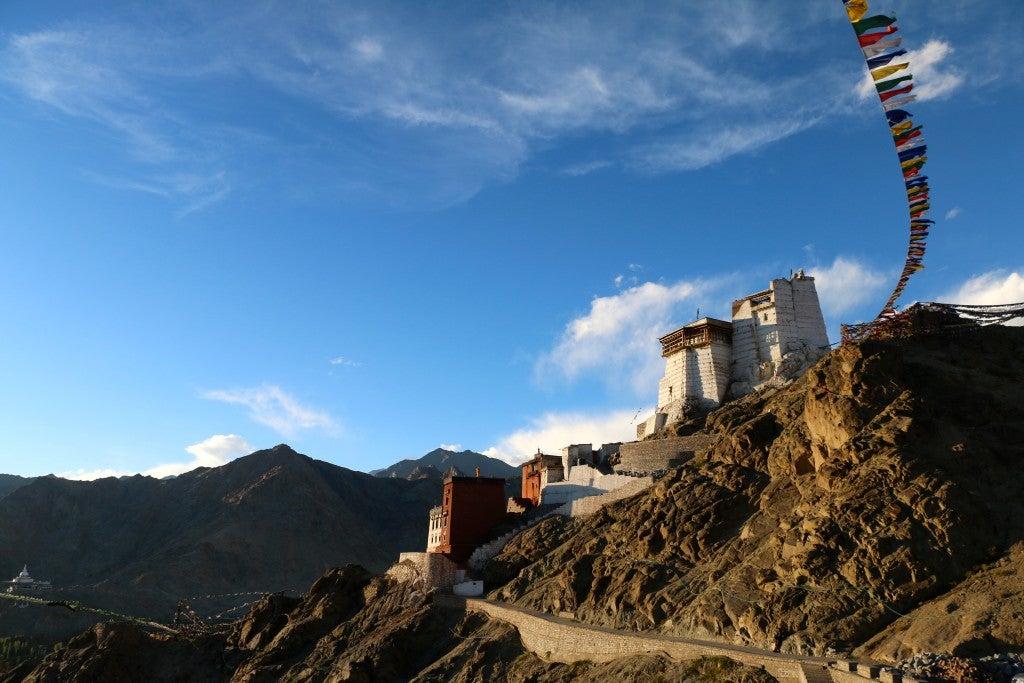 Ladakh has the same arid, barren mountain terrain as Tibet. (Photo: Nolan Peterson/The Daily Signal)