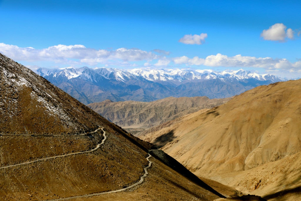 The road to Pangong Lake from the Ladhaki capital of Leh. (Photo: Nolan Peterson/The Daily Signal)
