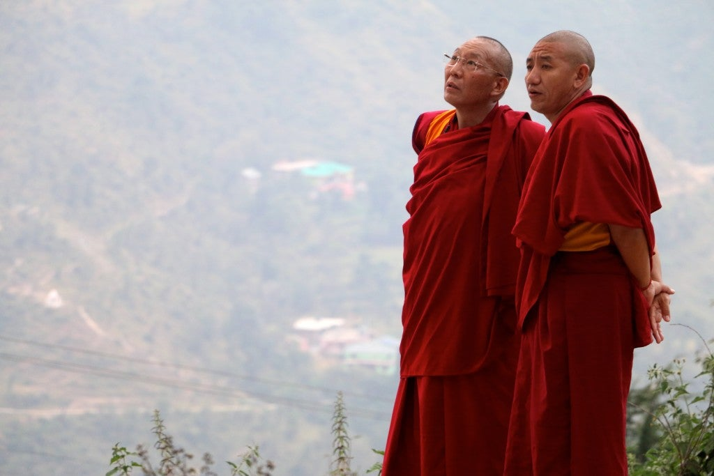 Buddhist monks in Dharamshala, India. (Photo: Nolan Peterson/The Daily Signal)