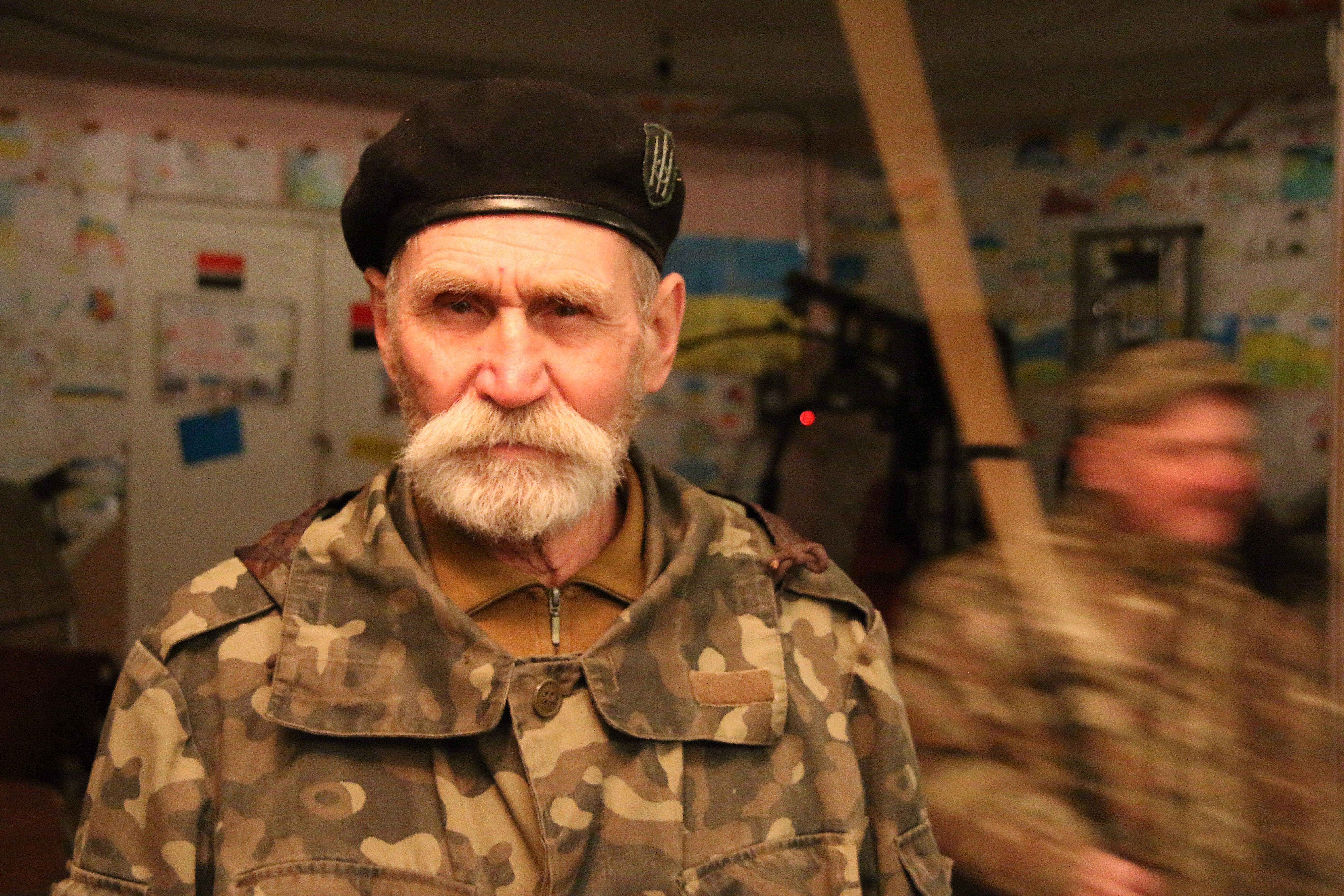 Ukrainian soldier Borys Antonovich Melnyk, 75, a Red Army veteran.