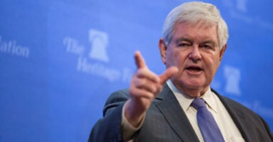 Former House Speaker Newt Gingrich has begun a six-part series of talks on Trumpism at The Heritage Foundation in January. (Photo: Willis Bretz for The Daily Signal)