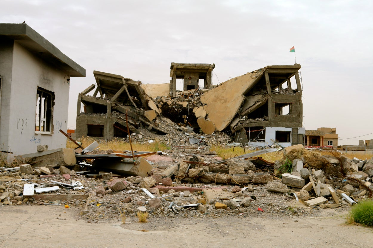Nearly all of Sinjar lies in ruins.