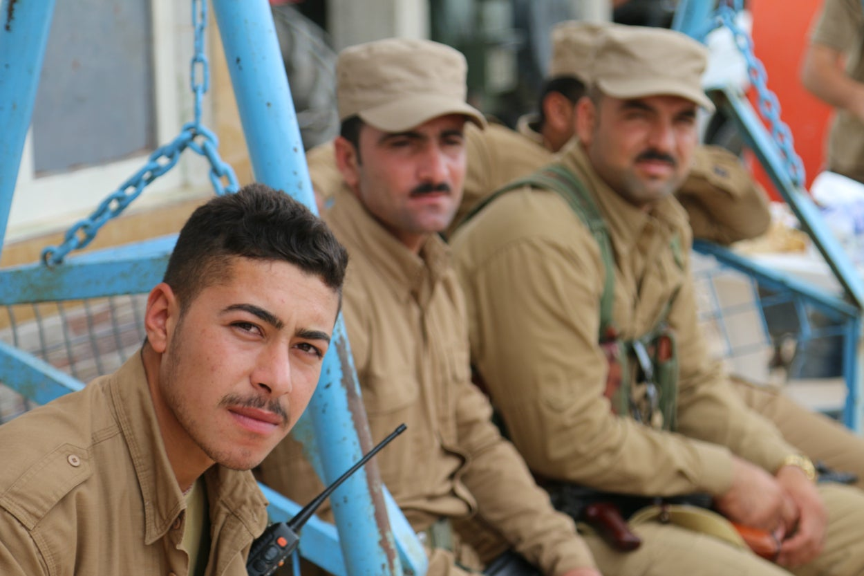 Roughly 7,000 peshmerga soldiers took part in liberating the Sinjar region, with about 1,500 dedicated to taking the town itself.