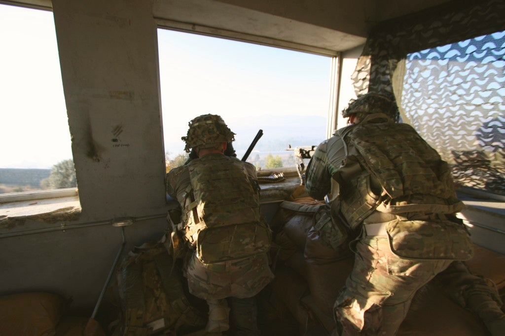 U.S. troops at an observation post in Afghanistan. (Photo: Nolan Peterson/The Daily Signal)