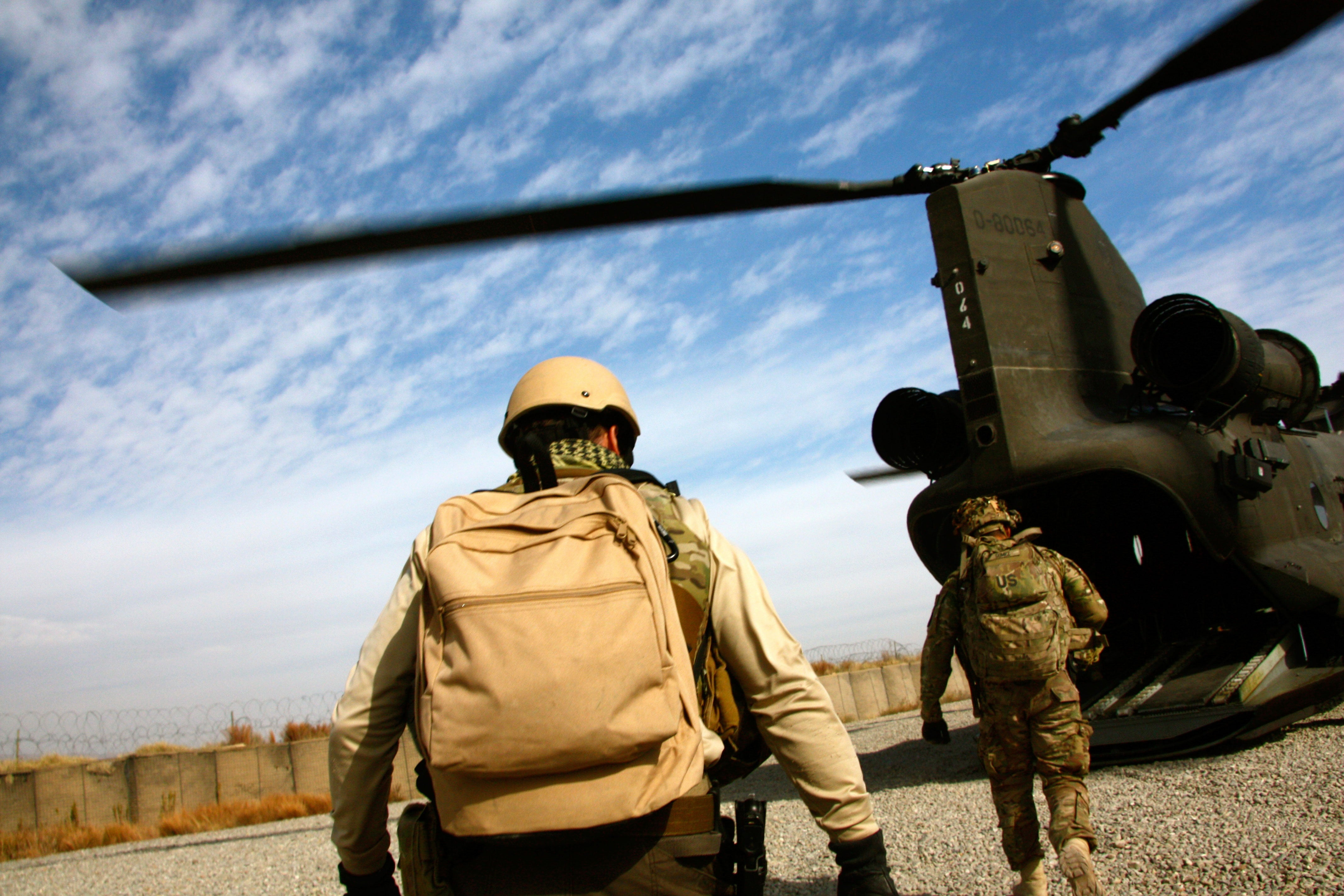 U.S. Army soldiers on a mission in Afghanistan.