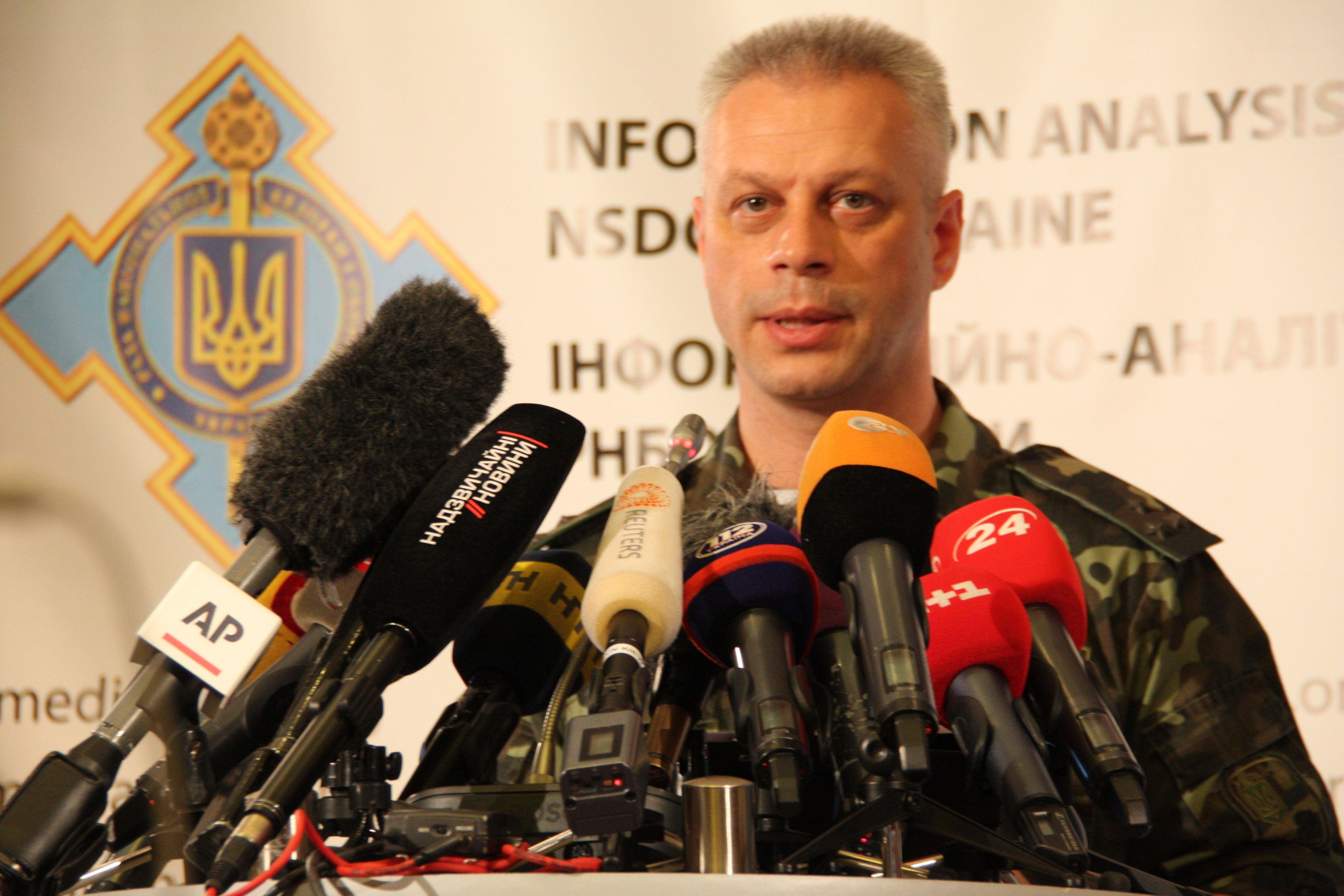 Ukrainian military spokesman Col. Andriy Lysenko.