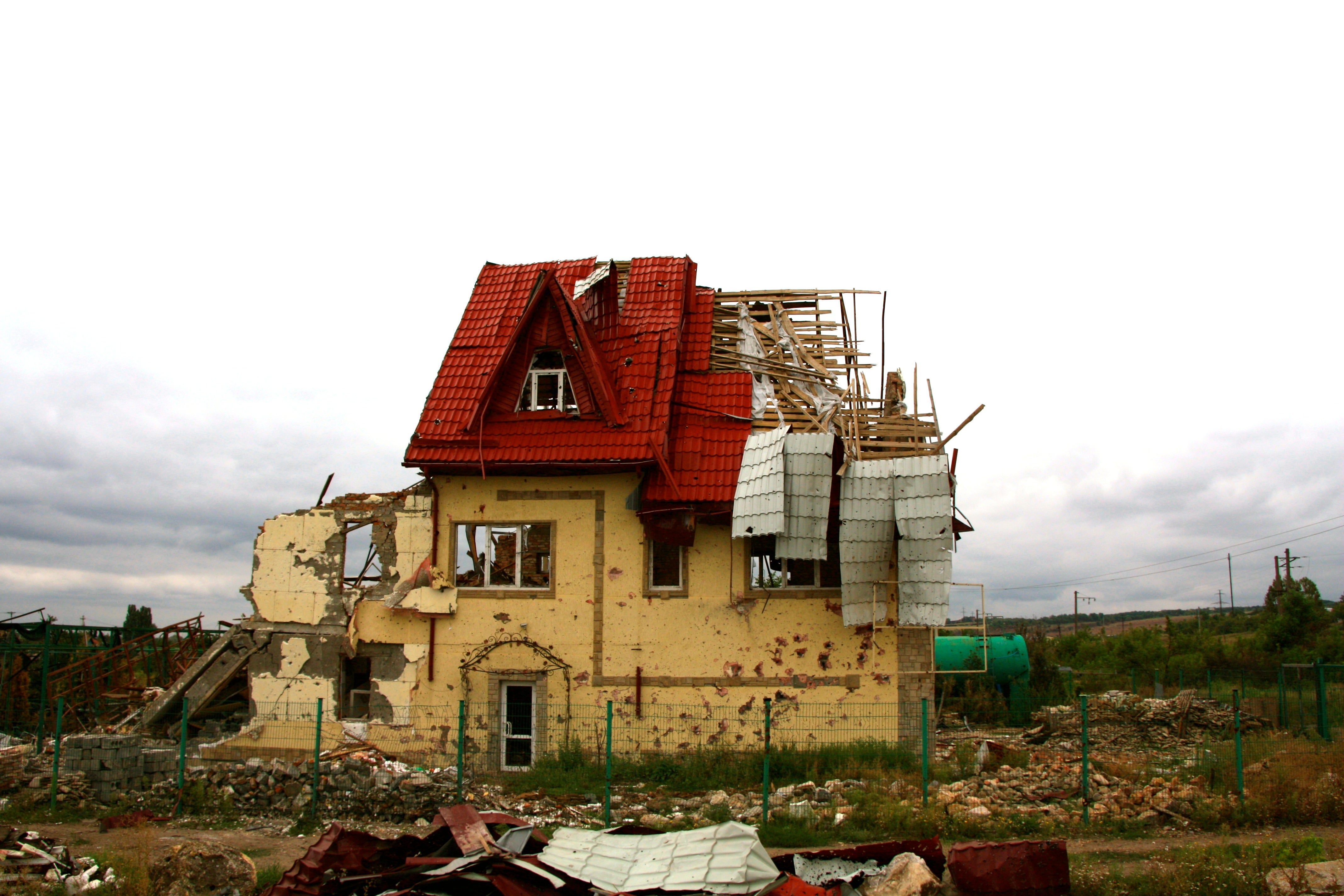 The Ukraine war has destroyed villages along the 200-mile-long front line.