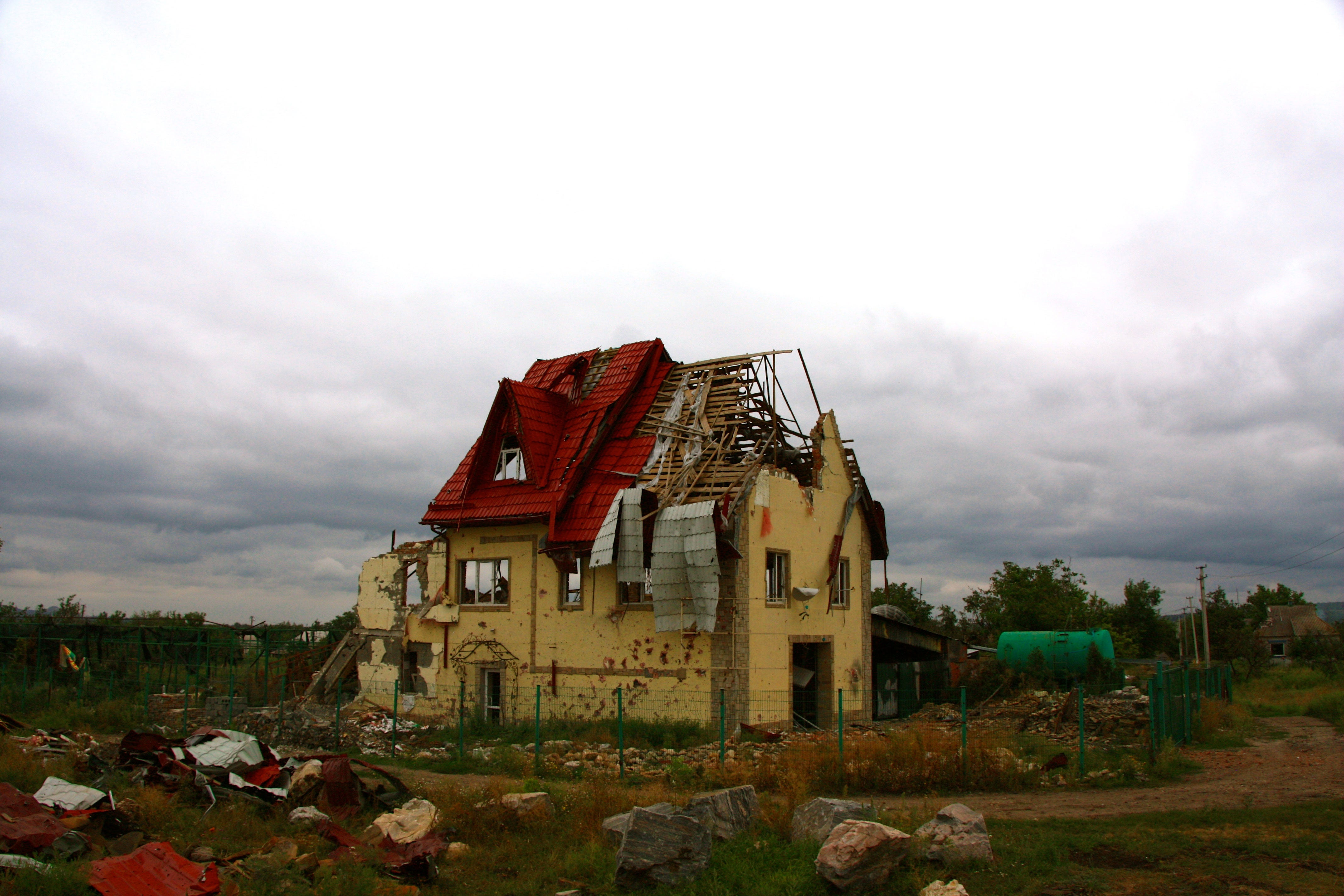 Across eastern Ukraine, towns have been left ruins after nearly three years of war.