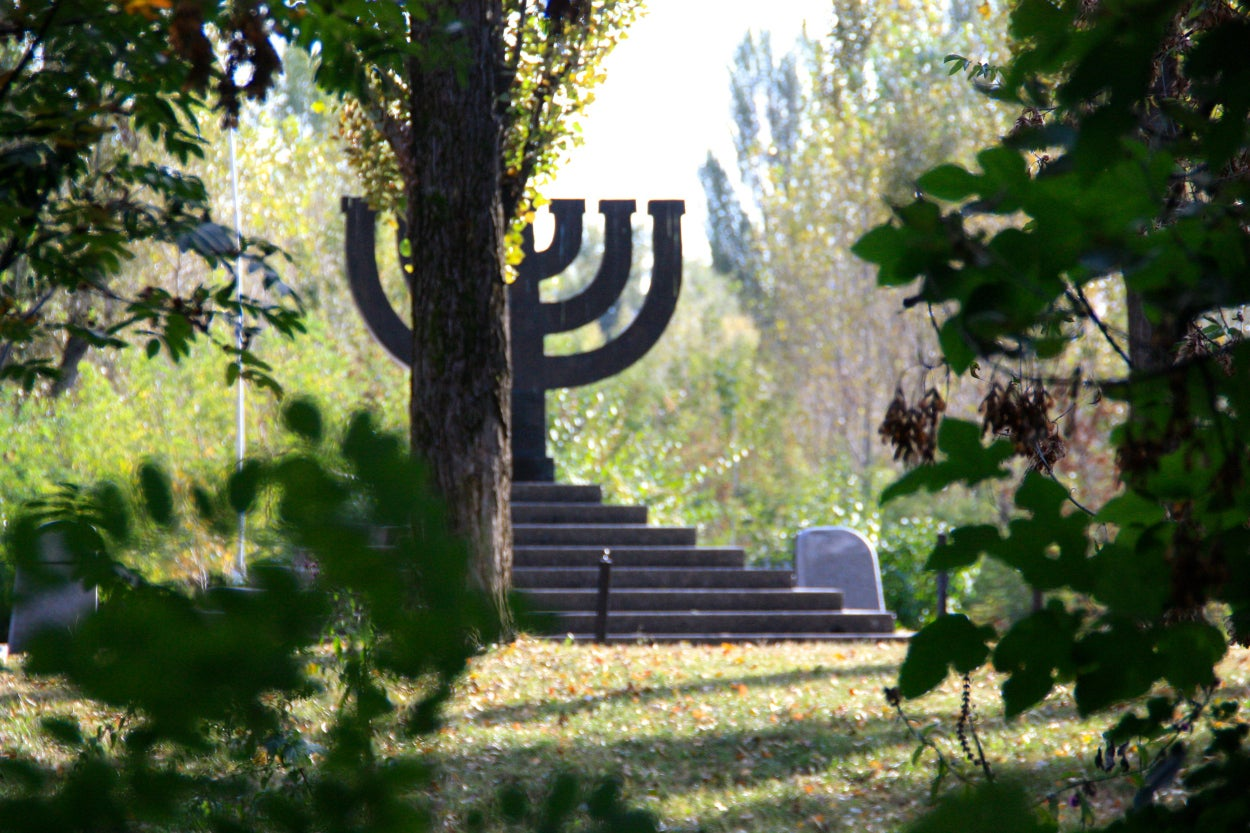 Ukraine pledged $1 million to build a Holocaust memorial at the ravine.