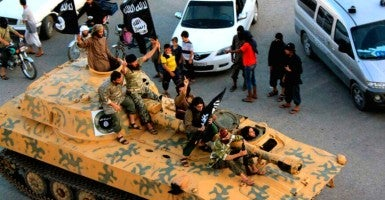 ISIS terrorists in Syria. (Photo: Raqqa Media Center/ZUMA Press/Newscom)