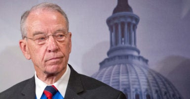 Sen. Chuck Grassley, R-Iowa, wrote a letter to the Obama administration asking how an illegal immigrant charged with murder in a June arson fire was able to remain in the country. (Photo: Ron Sachs/CNP/AdMedia /Newscom)