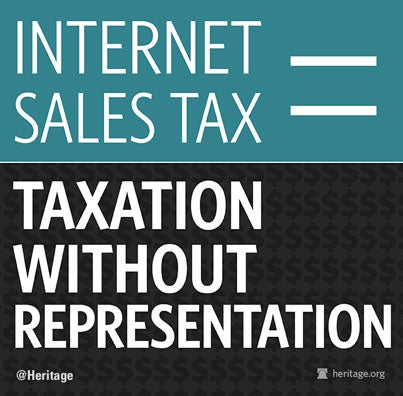 Internet Sales Tax = Taxation Without Representation