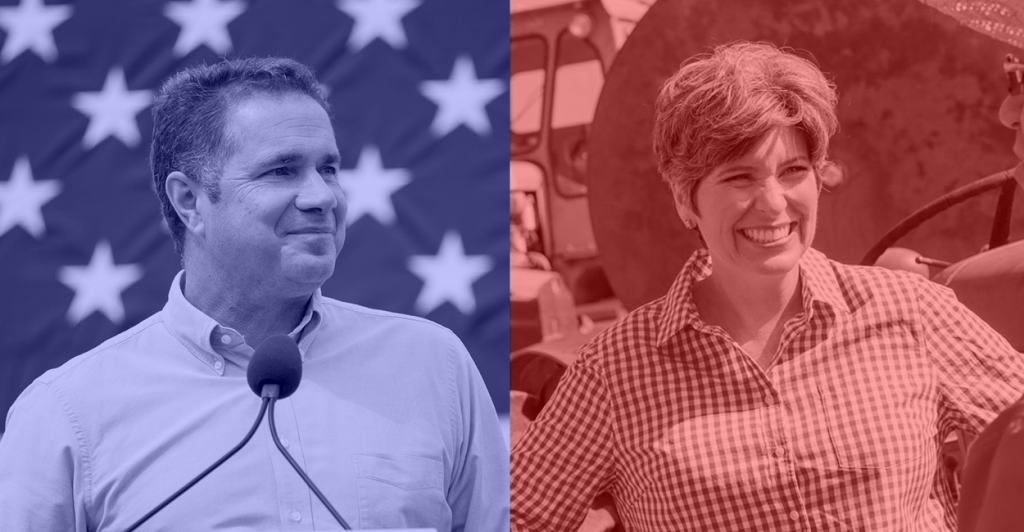 Photos: Bruce Braley Campaign Flickr/Joni Ernst Campaign Facebook Page
