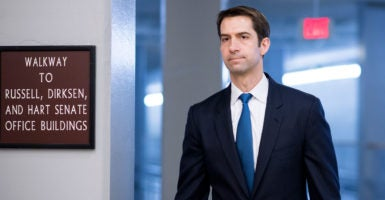 Sen. Tom Cotton, R-Ark., sent a letter to Obama administration officials demanding answers on the timing and nature of a $400 million money transfer to Iran. (Photo: Bill Clark/CQ Roll Call/Newscom)