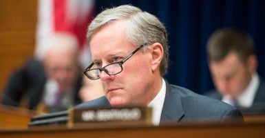 Rep. Mark Meadows of North Carolina is one of 11 Republicans to face retribution for voting against party leadership. (Bill Clark/CQ Roll Call/Newscom)