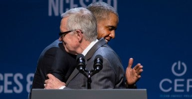 Senate Democratic leader Harry Reid helped President Obama win a debate in Congress over the Iran nuclear deal by leading a filibuster of a resolution rejecting the accord. (Photo: Brad Zucroff/Polaris/Newscom)