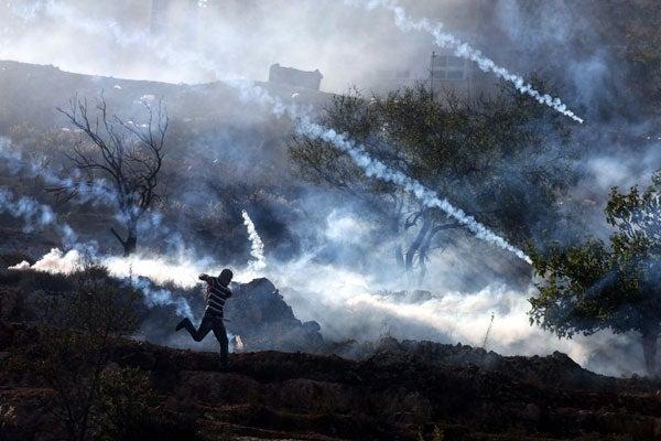 Tear gas - Israel/ Gaza conflict