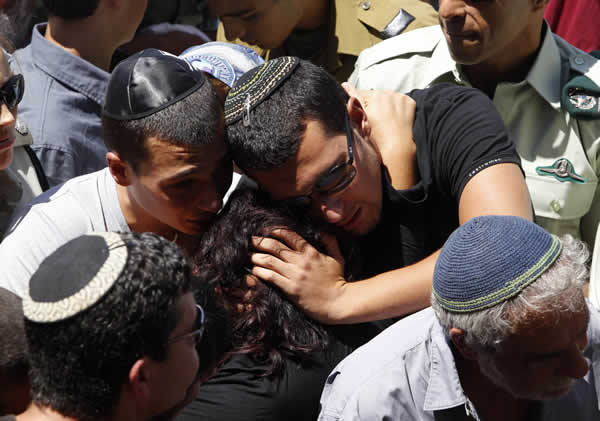 Funeral following attacks in Israel on August 19, 2011