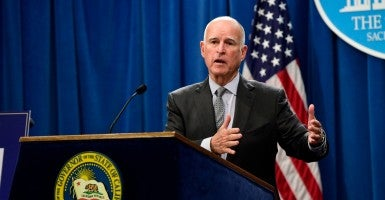 California Governor Jerry Brown. (Photo: John G. Mabanglo/EPA/Newscom)