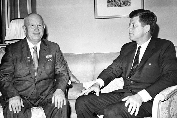 JFK and Nikita Khrushchev