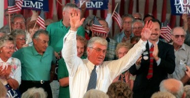 Jack Kemp running for vice president in 1996. (St Petersburg Times/ZUMAPRESS/Newscom)