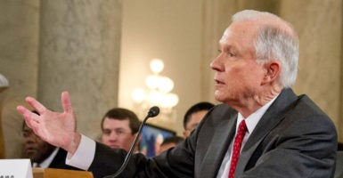 Sen. Jeff Sessions, R-Ala., answers questions as he testifies during his Senate Judiciary Committee confirmation hearing on his nomination to be U.S. attorney general. (Photo: Ron Sachs/dpa/picture-alliance/Newscom)