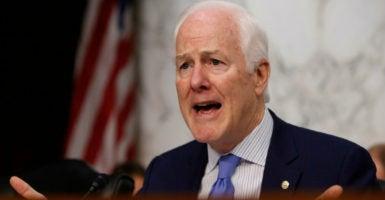 Senate Majority Whip John Cornyn, R-Texas, has voiced disinterest in Trump's budget cuts.   (Photo: Joshua Roberts /Reuters/Newscom)