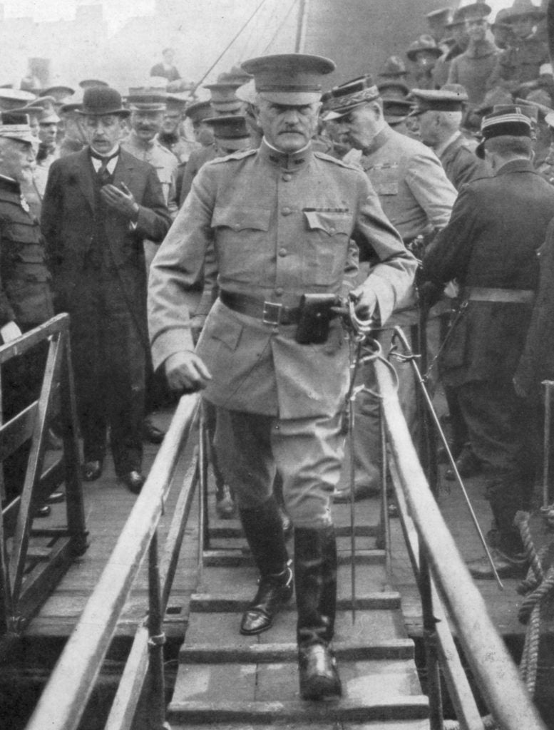 "Maj. Gen. John ""Black Jack"" Pershing (1860-1948) led the American Expeditionary Force in Europe. (Photo: The Print Collector Heritage Images/Newscom)"