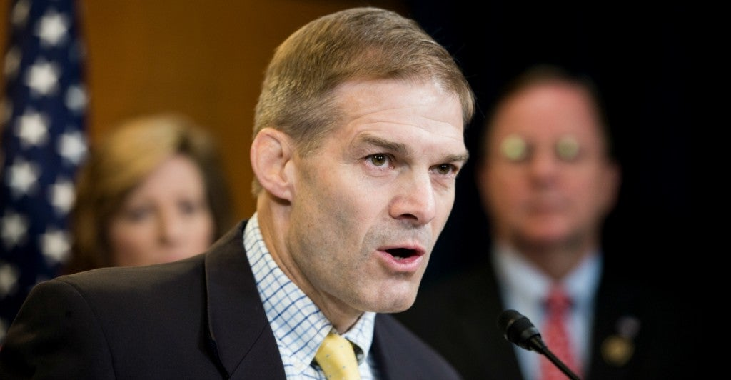 Rep. Jim Jordan, R-Ohio, believes conservatives should aim to stop President Obama's nuclear deal with Iran. (Bill Clark/CQ Roll Call/Newscom)