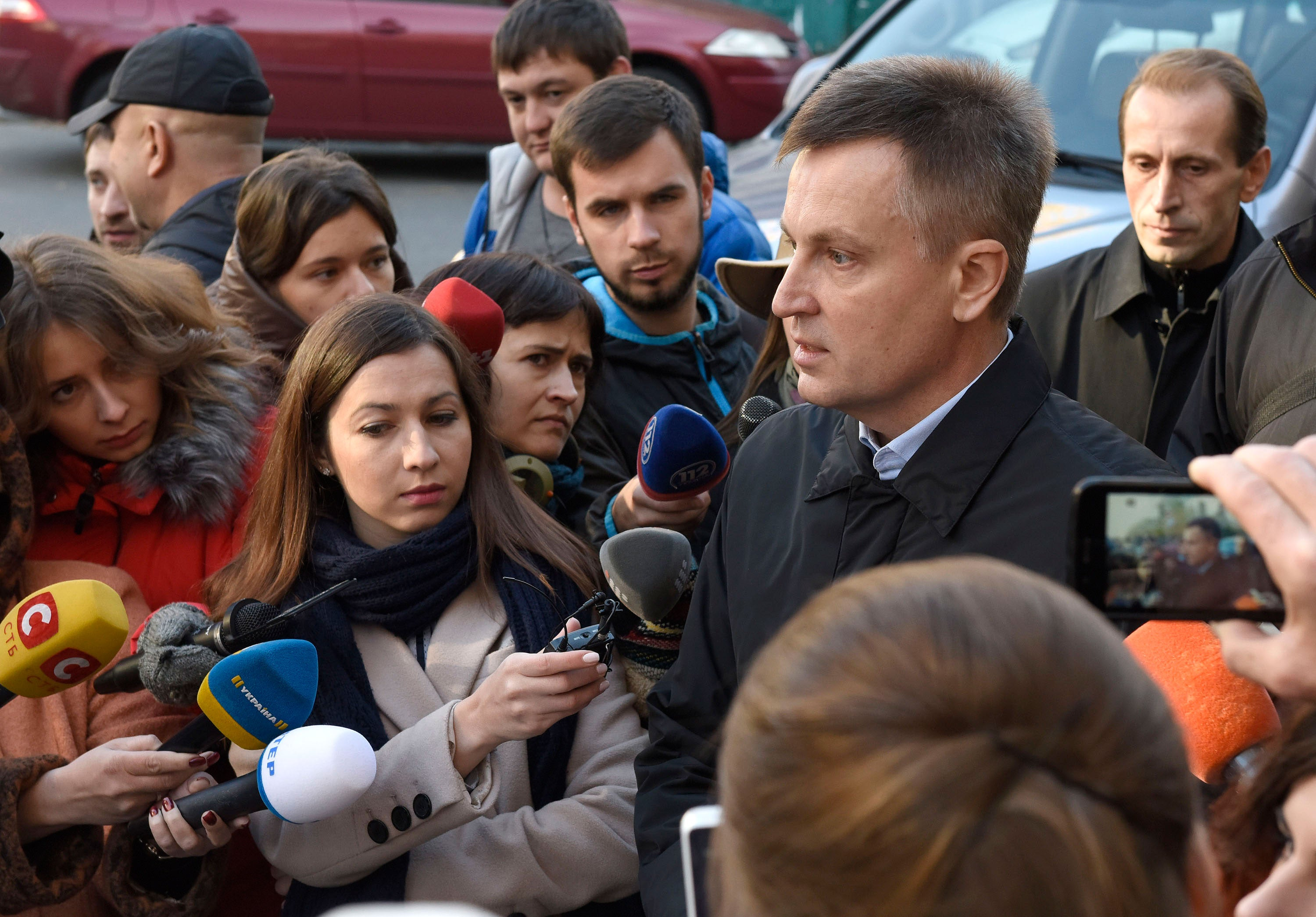 Valentyn Nalyvaichenko says he was fired from his leadership position at Ukraine's top security agency due to his anti-corruption investigations. (Photos: Courtesy of Karyna Samokhvalova)