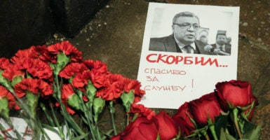 Andrei Karlov, the Russian ambassador to Turkey, was assassinated by a terrorist on Monday while speaking at an art exhibition in Ankara, Turkey. (Photo: Serebryakov Dmitry /Zuma Press/Newscom)