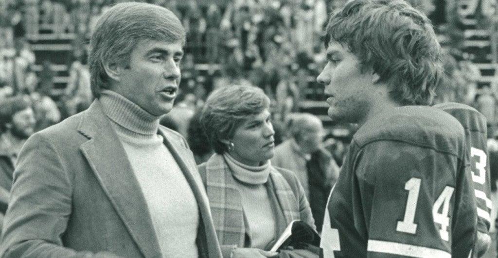 Jeff Kemp with his late father, the NFL quarterback and politician Jack Kemp. (Photo: Jeff Kemp)