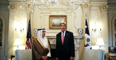 U.S. Secretary of State John Kerry meets with Saudi Foreign Minister Adel Al-Jubeir at the State Department in Washington, September 2, 2015. (Photo: Carlos Barria/Reuters/Newscom)