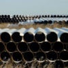 A depot used to store pipes for TransCanada Corp.'s planned Keystone XL oil pipeline is seen in Gascoyne, North Dakota. (Photo: Andrew Cullen/Reuters /Newscom)